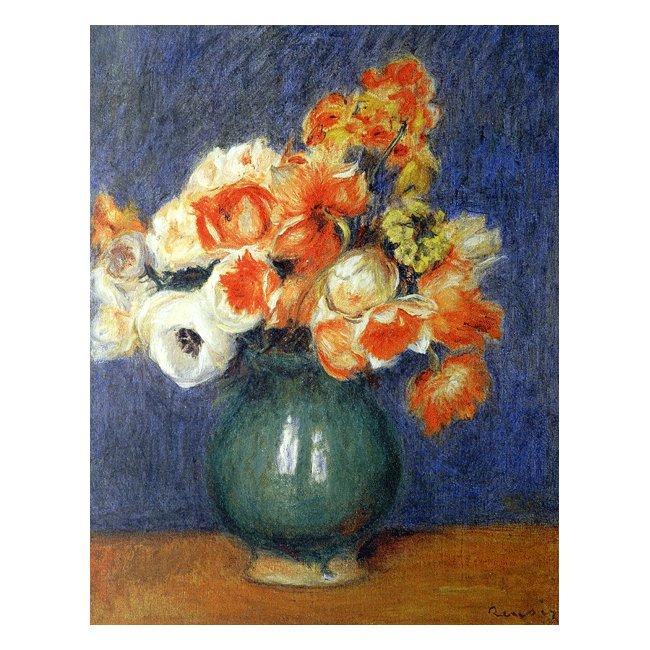 ピエール・オーギュスト・ルノワール「青い花瓶のアネモネ」 3号〜100号<br>プリハード・デジタグラフ 額付