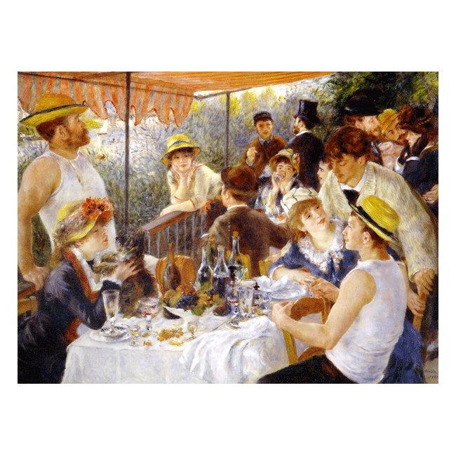 ピエール・オーギュスト・ルノワール「船遊びをする人々の昼食」 3号〜100号<br>プリハード・デジタグラフ 額付