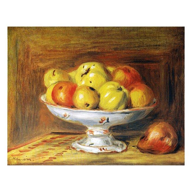 ピエール・オーギュスト・ルノワール「リンゴ」 3号〜100号<br>プリハード・デジタグラフ 額付