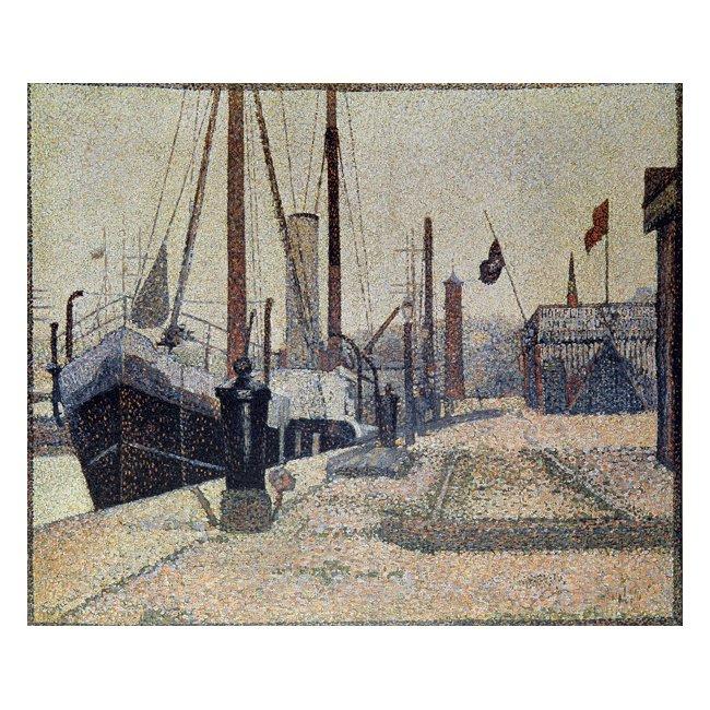 ジョルジュ・スーラ「オンフルール港の船」 3号〜100号<br>プリハード・デジタグラフ 額付