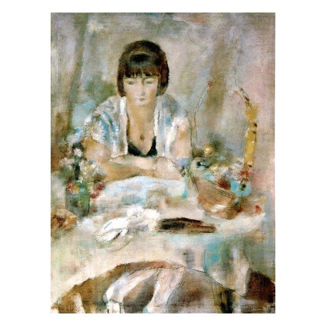 ジュール・パスキン「ルーシー・クローグの肖像」 3号〜100号<br>プリハード・デジタグラフ 額付