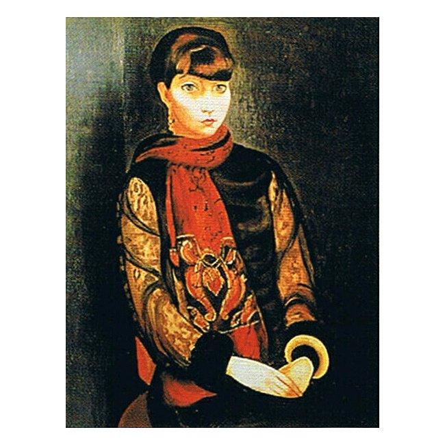 モイズ・キスリング「リタ・ヴァン・リアの肖像」 3号〜100号<br>プリハード・デジタグラフ 額付