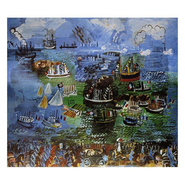 ラウル・デュフィ「ル・アーヴルの水の祭」 3号〜100号<br>プリハード・デジタグラフ 額付