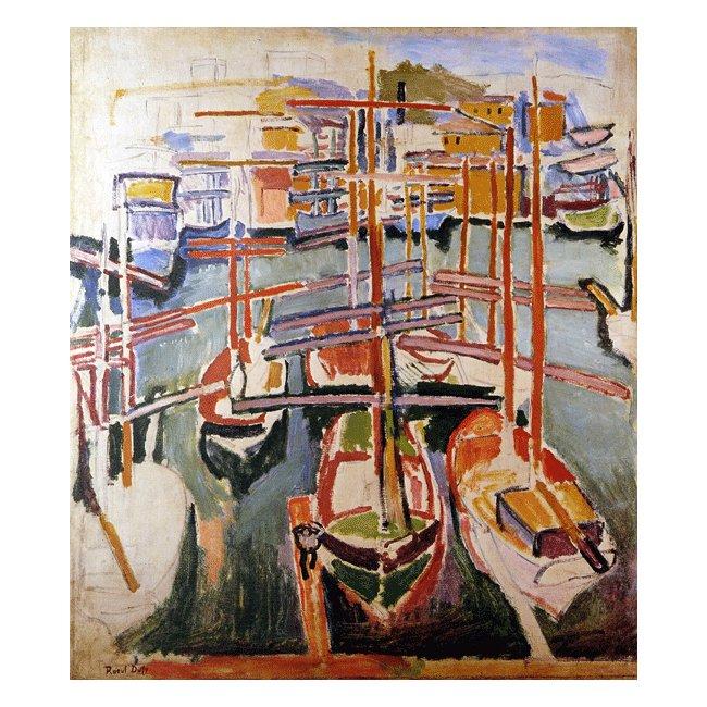ラウル・デュフィ「マルセイユの古い港」 3号〜100号<br>プリハード・デジタグラフ 額付