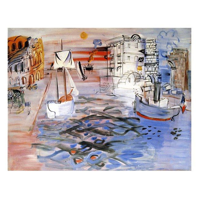 ラウル・デュフィ「帆船のある港」 3号〜100号<br>プリハード・デジタグラフ 額付