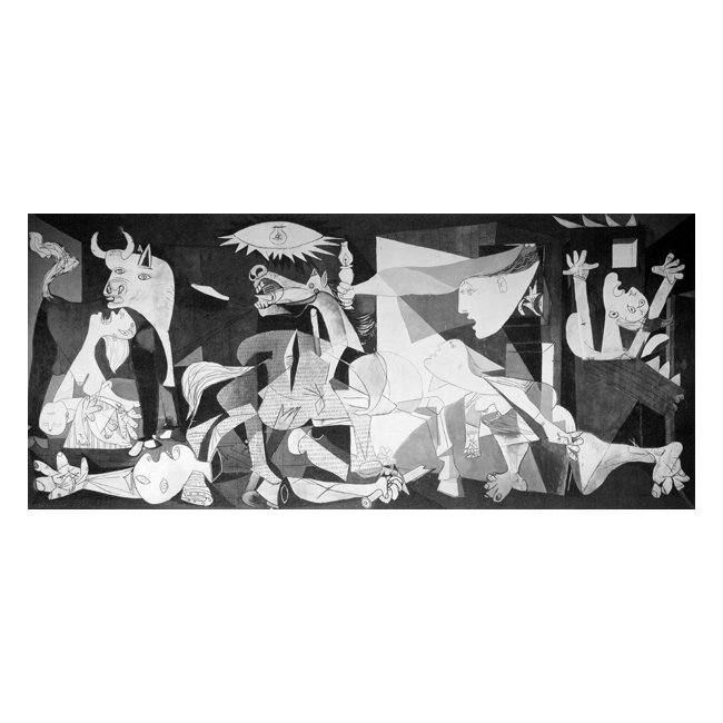 パブロ・ピカソ「ゲルニカ」 3号〜100号<br>プリハード・デジタグラフ 額付