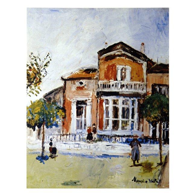 モーリス・ユトリロ「ボンヌ・リュシーの家」 3号〜100号<br>プリハード・デジタグラフ 額付