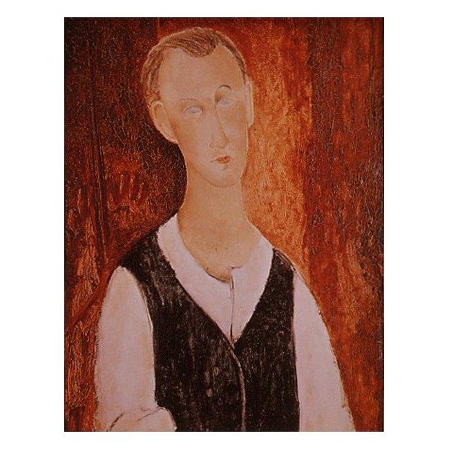 アメディオ・モディリアーニ「若き農夫の肖像」 3号〜100号<br>プリハード・デジタグラフ 額付