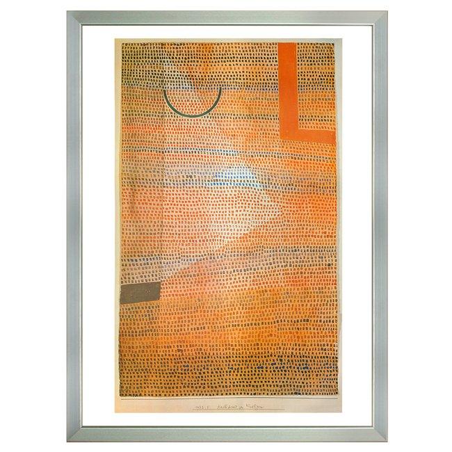パウル・クレー�「直角と半円の関係」 <br>プリハード世界の名画 額付