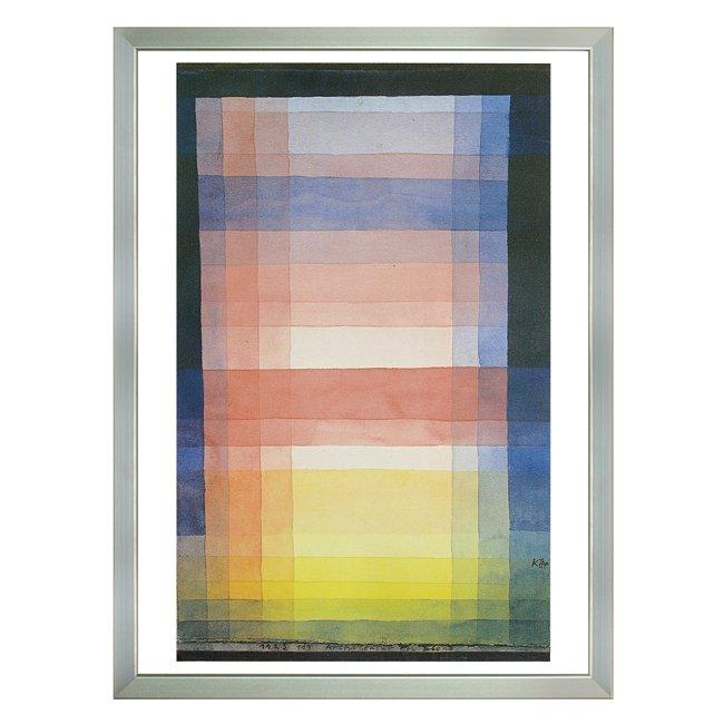 パウル・クレー�「平面の構成 」 <br>プリハード世界の名画 額付