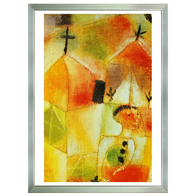 パウル・クレー�「窓辺の少女 」 <br>プリハード世界の名画 額付