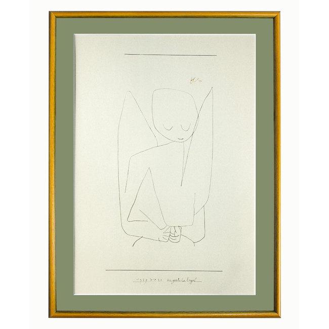 パウル・クレー�「忘れっぽい天使」 <br>プリハード世界の名画 額付
