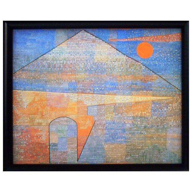 パウル・クレー�「パルナッソス山へ」 <br>プリハード世界の名画 額付
