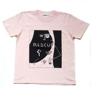 RESCUE2 KIDS Tshirt/Baby pink×black