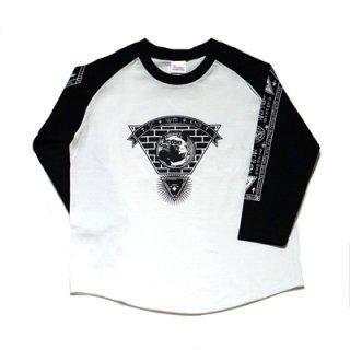 SC050 raglan sleeves T-SHIRT/white×black