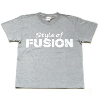 FUSION T-SHIRT/gray×white