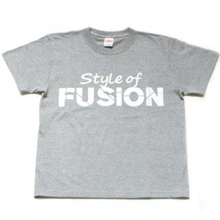 FUSION T-SHIRT/gray×white