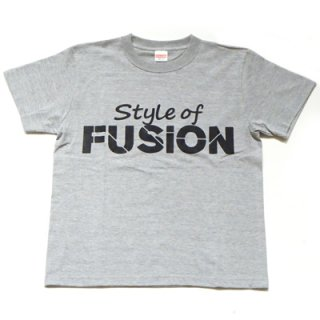 FUSION T-SHIRT/gray×black