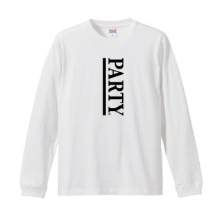 PARTY LINE L/S T-SHIRT/white