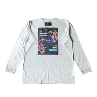 <img class='new_mark_img1' src='//img.shop-pro.jp/img/new/icons8.gif' style='border:none;display:inline;margin:0px;padding:0px;width:auto;' />cosmic cherry blossom L/S T-SHIRT gray