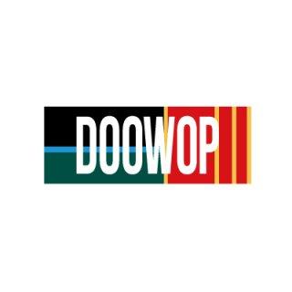 DOOWOP STICKER/black