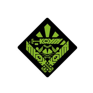 KAYLLY MONSTER STICKER/green