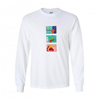 NOON L/S T-SHIRT/white