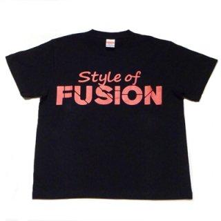FUSION T-SHIRT/black×red