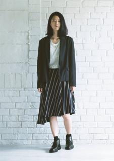 「主役はスカート」 no.10 ストライプアシメトリースカート表布