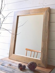 600×740 Wood flame mirror