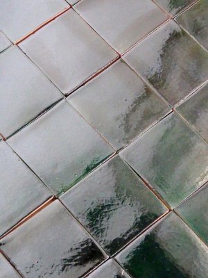 Mexican tile : deep green