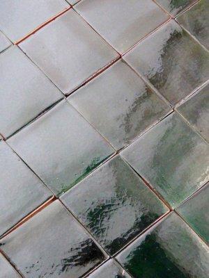 Mexican tile : deep green