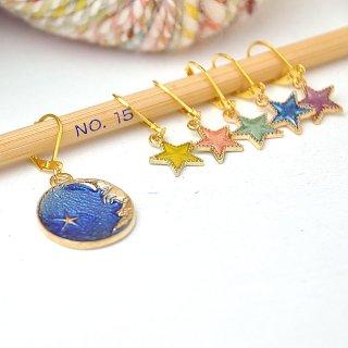ステッチマーカー【月と星・33】
