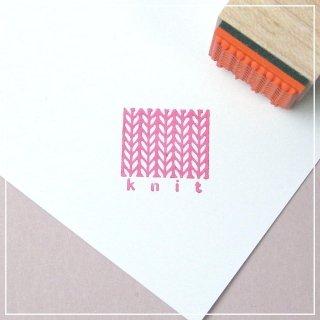 棒針編み スタンプ