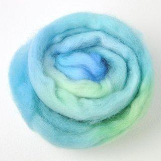 染色メリノ60s 青緑系20g
