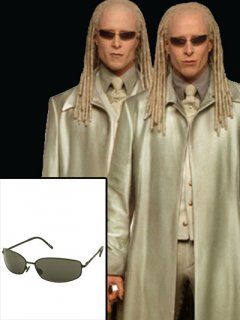 ★アクティブ派仕様★映画【マトリックス/リローデッド】『ツインズ』着用スタイルのサングラス/レプリカ◆