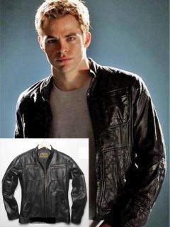 映画【スタートレック】レザージャケット『ジム』(クリスパイン)着用 レプリカ革ジャン