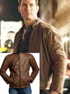 映画【アウトロー】レザージャケット『ジャックリーチャー』(トムクルーズ)着用 レプリカ革ジャン