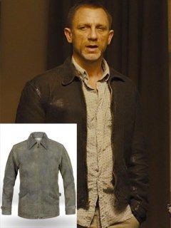映画【007 スカイフォール】レザージャケット『ジェームズボンド』(ダニエルクレイグ)着用 レプリカ革ジャン
