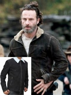 【ウォーキングデッド】レザージャケット『リックグライムズ』(アンドリュー)着用 レプリカ革ジャン