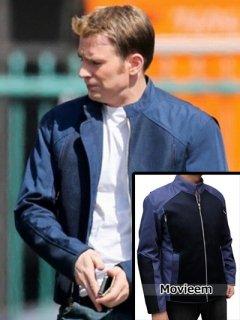 映画【キャプテンアメリカウィンターソルジャー】レプリカジャケット『スティーブロジャース』着用