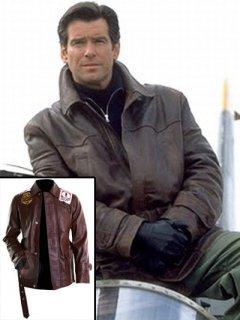 映画【007 トゥモローネバーダイ】レザージャケット『ジェームズボンド』(ピアースブロスナン)着用 レプリカ革ジャン