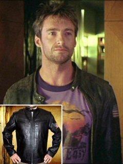 映画【ソードフィッシュ】レザージャケット『スタンリー』(ヒュージャックマン)着用 レプリカ革ジャン