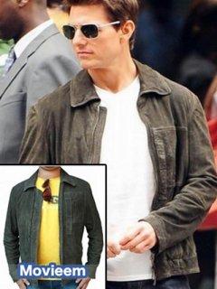 映画【オブリビオン】スエードレザージャケット『ジャックハーパー』(トムクルーズ)着用 レプリカ革ジャン