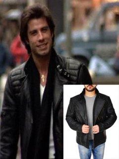 映画【ステインアライブ】レザージャケット『トニー』(ジョントラボルタ)着用 革ジャン レプリカ