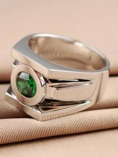 映画【グリーンランタン】パワーリング『ハル・ジョーダン』着用レプリカ指輪「シルバー925」【特典付】