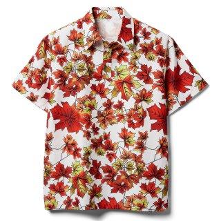 日本未入荷!【ファイトクラブ】ブラッドピット(タイラーダーデン)着用「半袖 メイプル柄シャツ」レプリカ