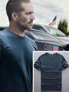 ワイルドスピード【ポールウォーカー】着用モデル ロゴ入り「ポケットTシャツ」ワイルド7