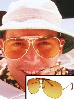 ★海外限定★【ラスベガスをやっつけろ】ラウル(ジョニーデップ)着用サングラス レプリカ