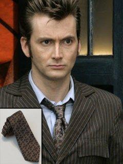 ★100%シルク★海外ドラマ【ドクターフー】10代目『Doctor Who』(デヴィッドテナント)★ランタン★ネクタイ/レプリカ◆